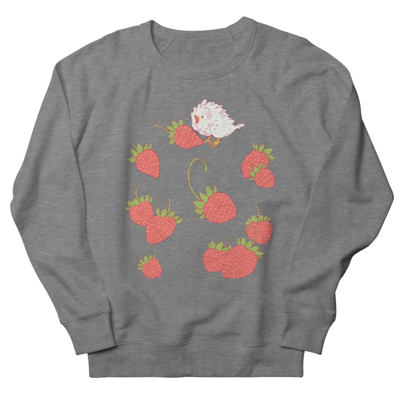 strawbirb (tianyulong confusci) Women's French Terry Sweatshirt by Art of Wendy Xu's Artist Shop
