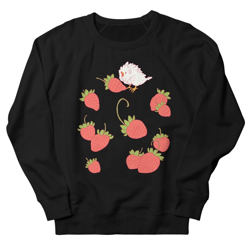 strawbirb (tianyulong confusci) Women's French Terry Sweatshirt by artofwendyxu's Artist Shop