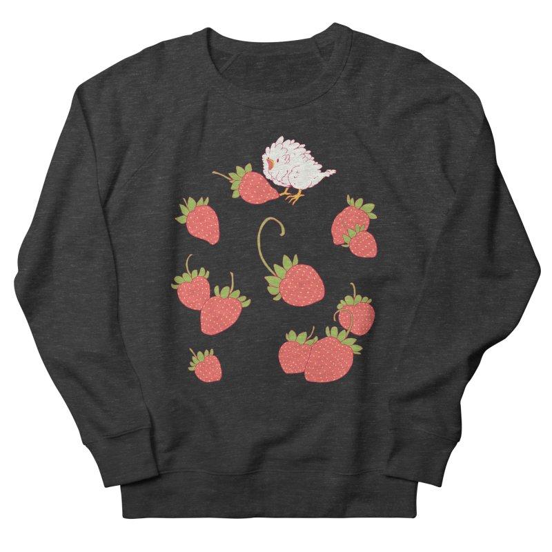 strawbirb (tianyulong confusci) Men's French Terry Sweatshirt by Art of Wendy Xu's Artist Shop