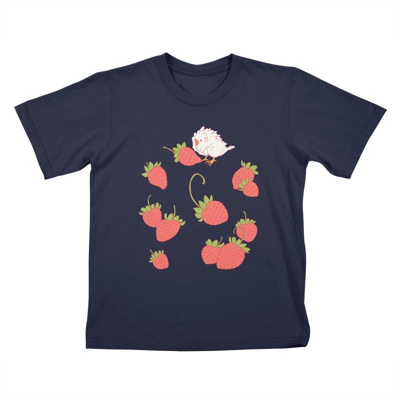 strawbirb (tianyulong confusci) Kids T-Shirt by Art of Wendy Xu's Artist Shop