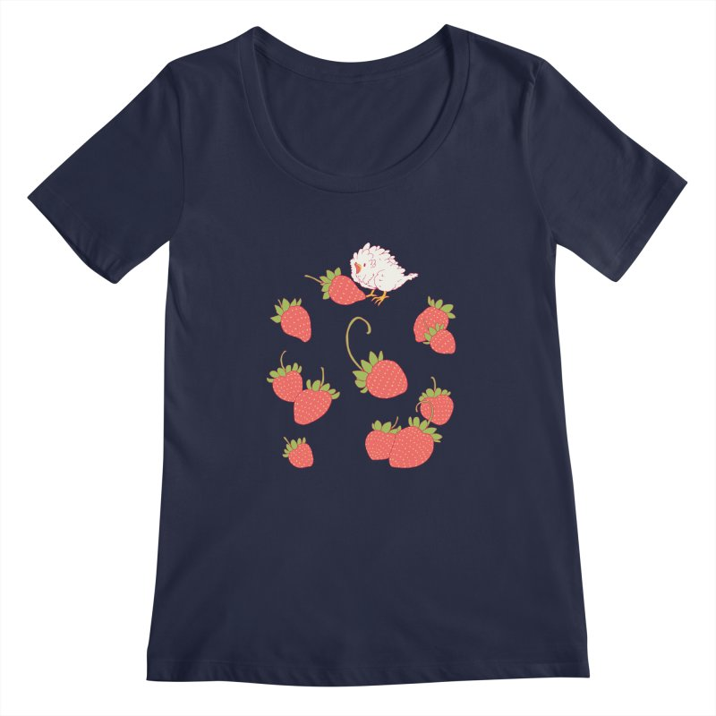 strawbirb (tianyulong confusci) Women's Regular Scoop Neck by artofwendyxu's Artist Shop