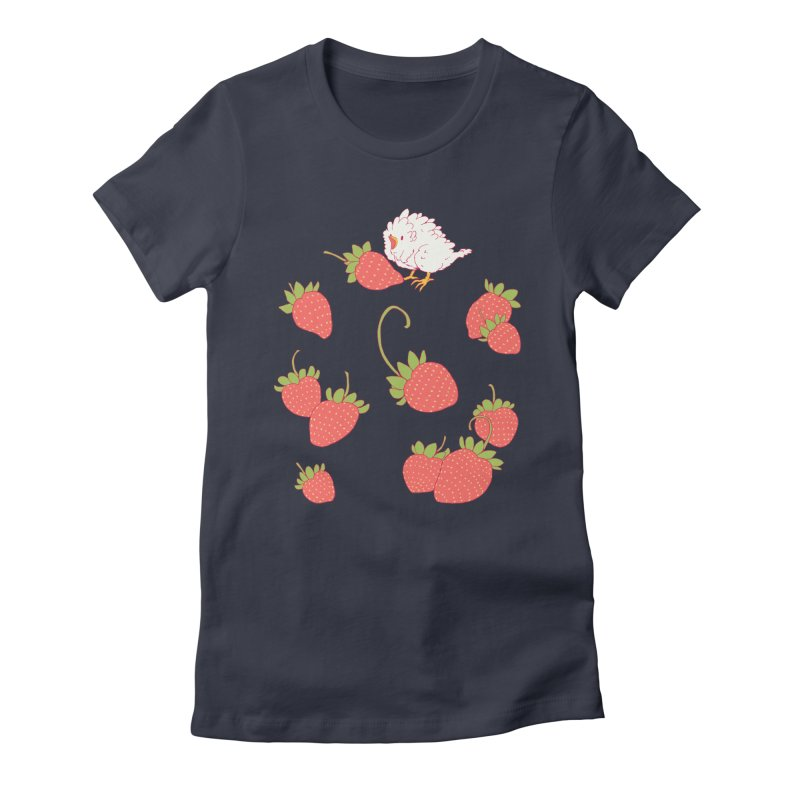 strawbirb (tianyulong confusci) Women's Fitted T-Shirt by Art of Wendy Xu's Artist Shop