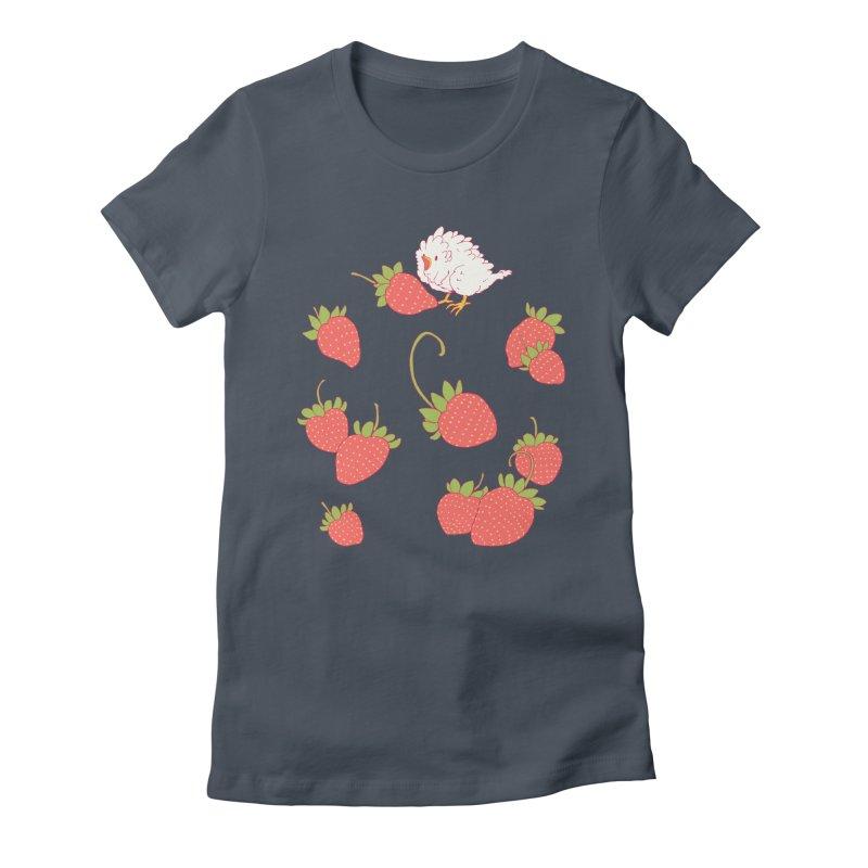 strawbirb (tianyulong confusci) Women's Fitted T-Shirt by artofwendyxu's Artist Shop