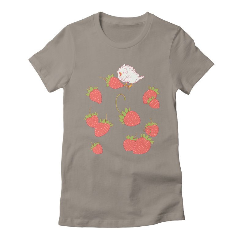 strawbirb (tianyulong confusci) Women's Fitted T-Shirt by artofwendyxu's Artist Shop