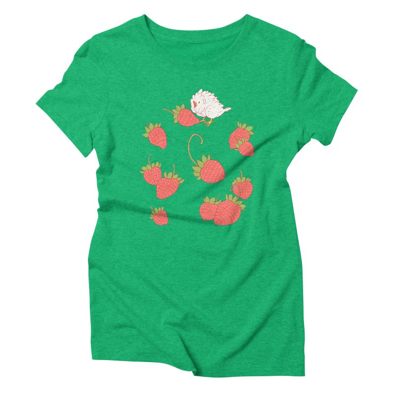 strawbirb (tianyulong confusci) Women's Triblend T-Shirt by artofwendyxu's Artist Shop