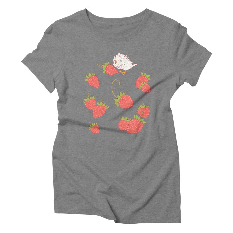 strawbirb (tianyulong confusci) Women's Triblend T-Shirt by Art of Wendy Xu's Artist Shop