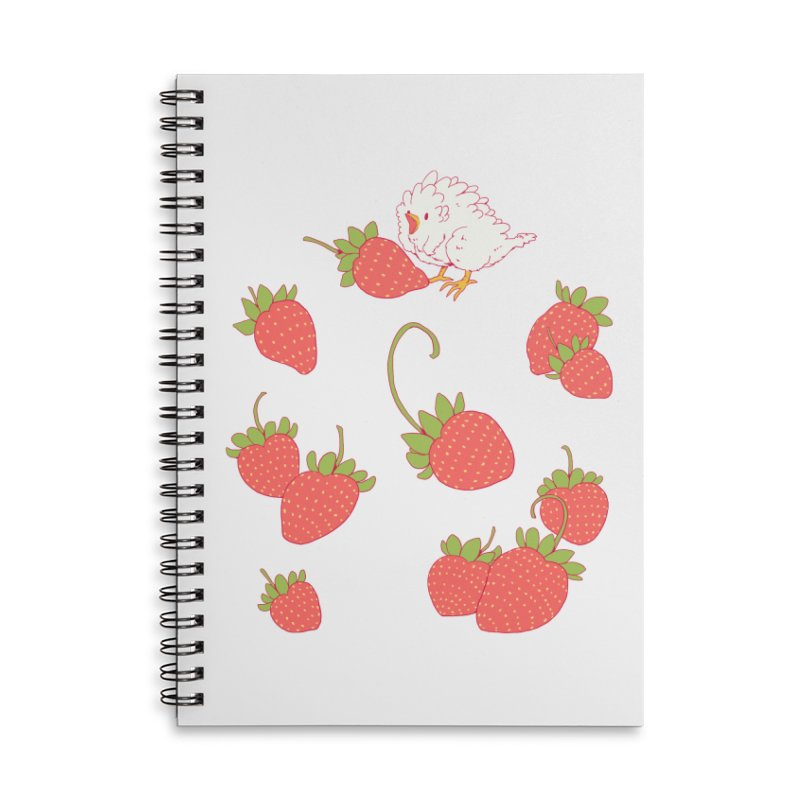 strawbirb (tianyulong confusci) Accessories Lined Spiral Notebook by Art of Wendy Xu's Artist Shop