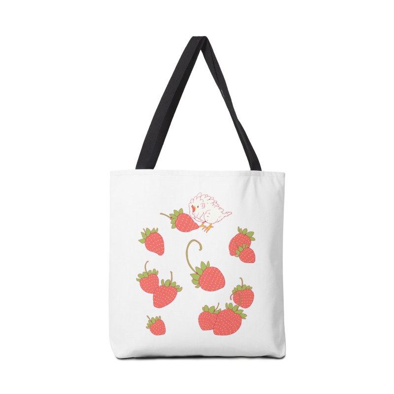 strawbirb (tianyulong confusci) Accessories Bag by artofwendyxu's Artist Shop