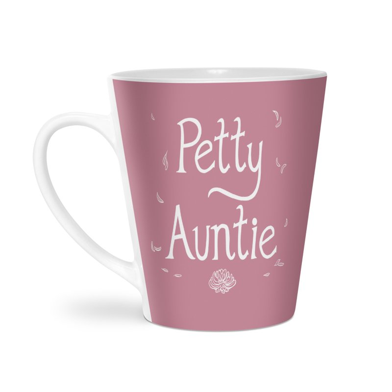 petty auntie Accessories Latte Mug by Art of Wendy Xu's Artist Shop