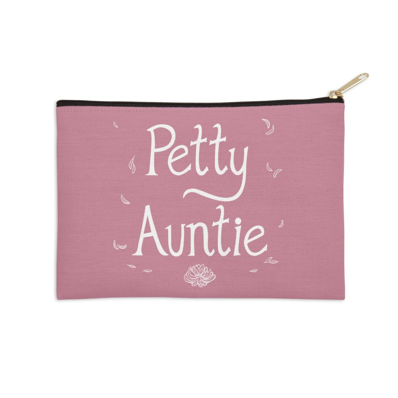 petty auntie Accessories Zip Pouch by Art of Wendy Xu's Artist Shop