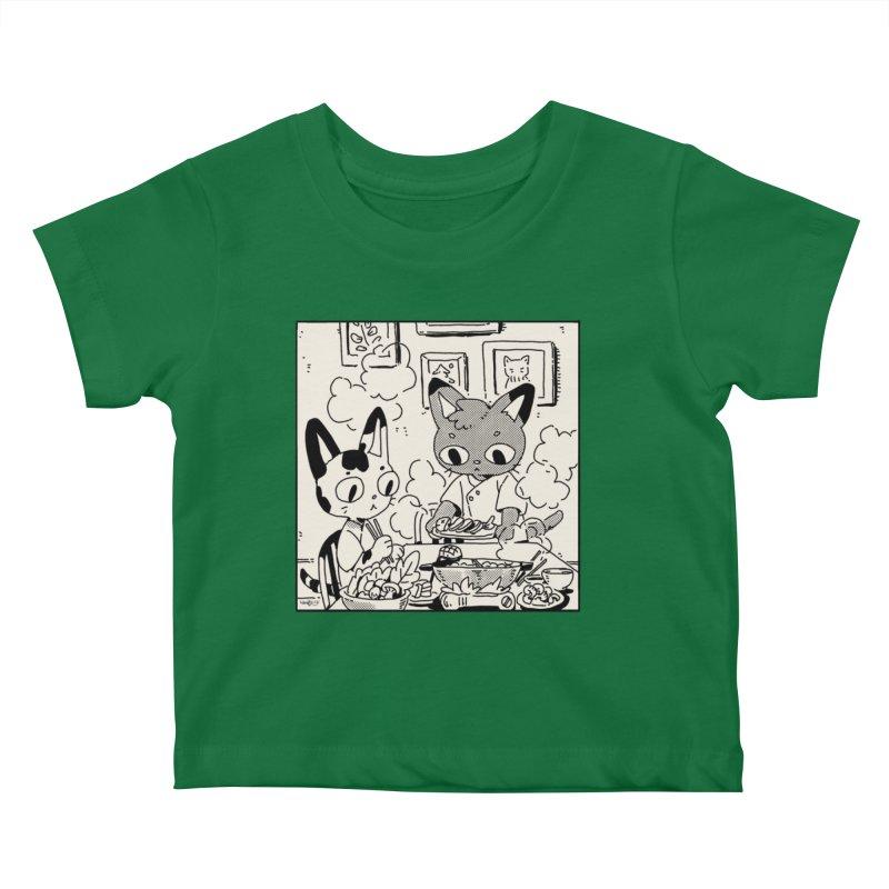 Hotpot Cats Kids Baby T-Shirt by Art of Wendy Xu's Artist Shop