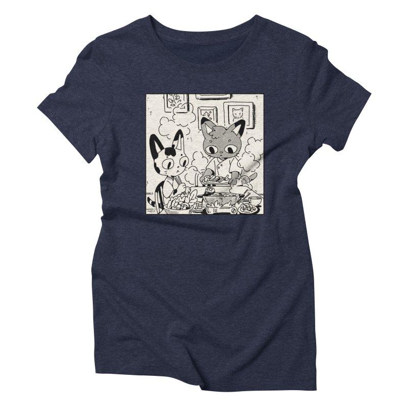 Hotpot Cats Women's T-Shirt by Art of Wendy Xu's Artist Shop