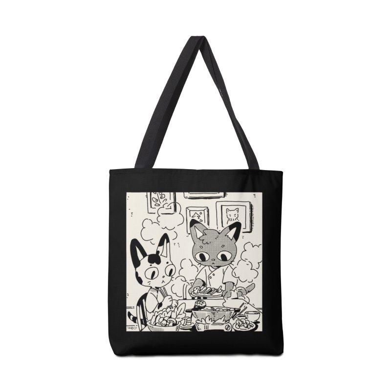 Hotpot Cats Accessories Bag by Art of Wendy Xu's Artist Shop