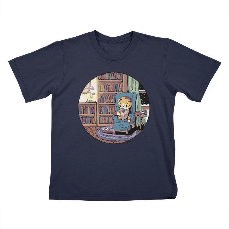 Cozy Evening Kids T-Shirt by Art of Wendy Xu's Artist Shop