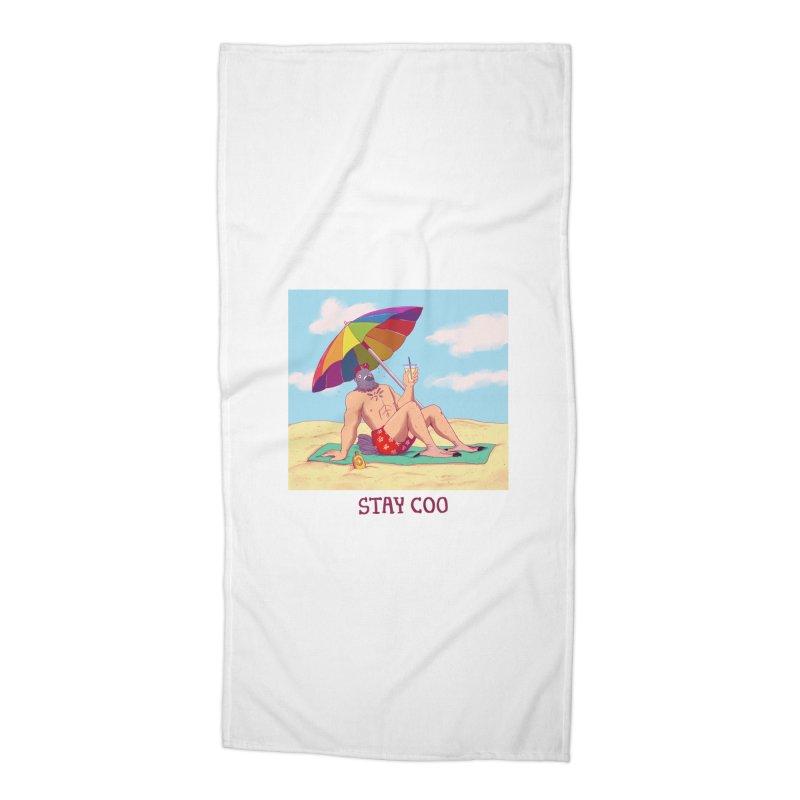 Stay Coo  Accessories Beach Towel by artofwendyxu's Artist Shop