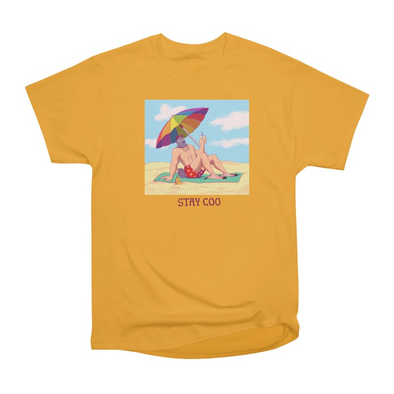 Stay Coo  Men's Heavyweight T-Shirt by Art of Wendy Xu's Artist Shop