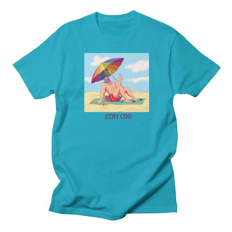 Stay Coo  Men's Regular T-Shirt by Art of Wendy Xu's Artist Shop
