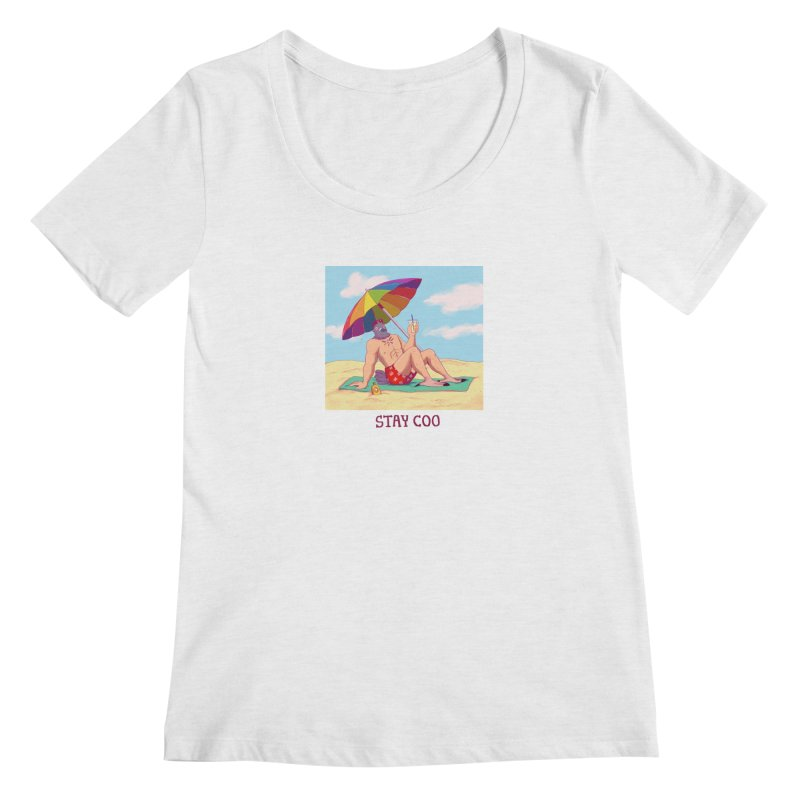 Stay Coo  Women's Regular Scoop Neck by artofwendyxu's Artist Shop