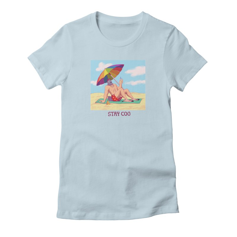 Stay Coo  Women's Fitted T-Shirt by Art of Wendy Xu's Artist Shop