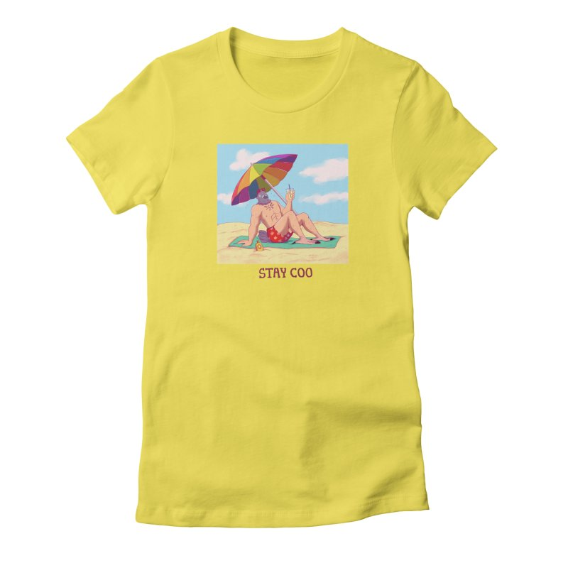 Stay Coo  Women's Fitted T-Shirt by artofwendyxu's Artist Shop