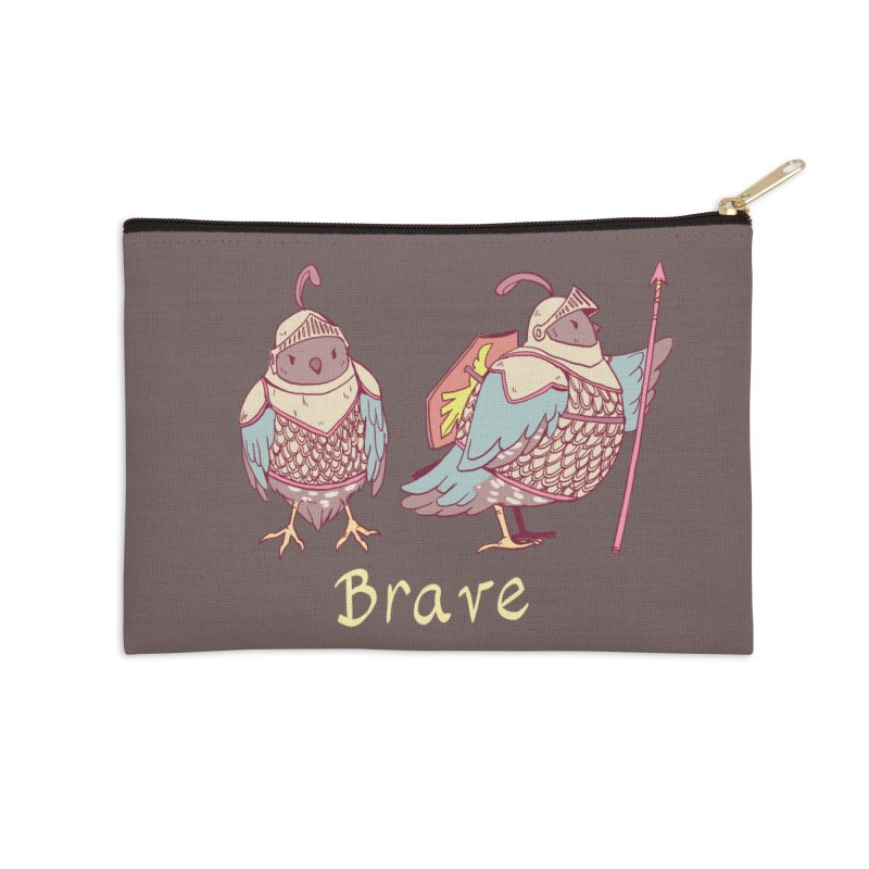 Brave Accessories Zip Pouch by artofwendyxu's Artist Shop