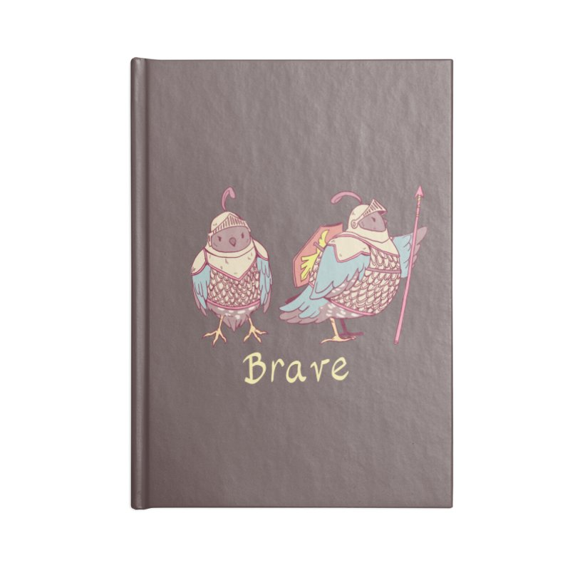 Brave Accessories Lined Journal Notebook by Art of Wendy Xu's Artist Shop