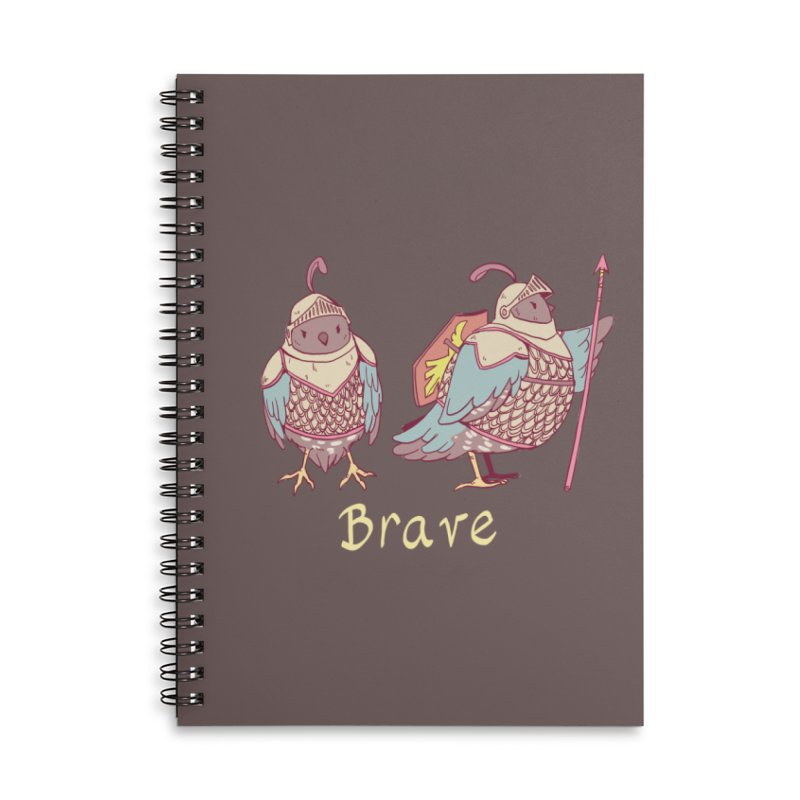 Brave Accessories Lined Spiral Notebook by Art of Wendy Xu's Artist Shop