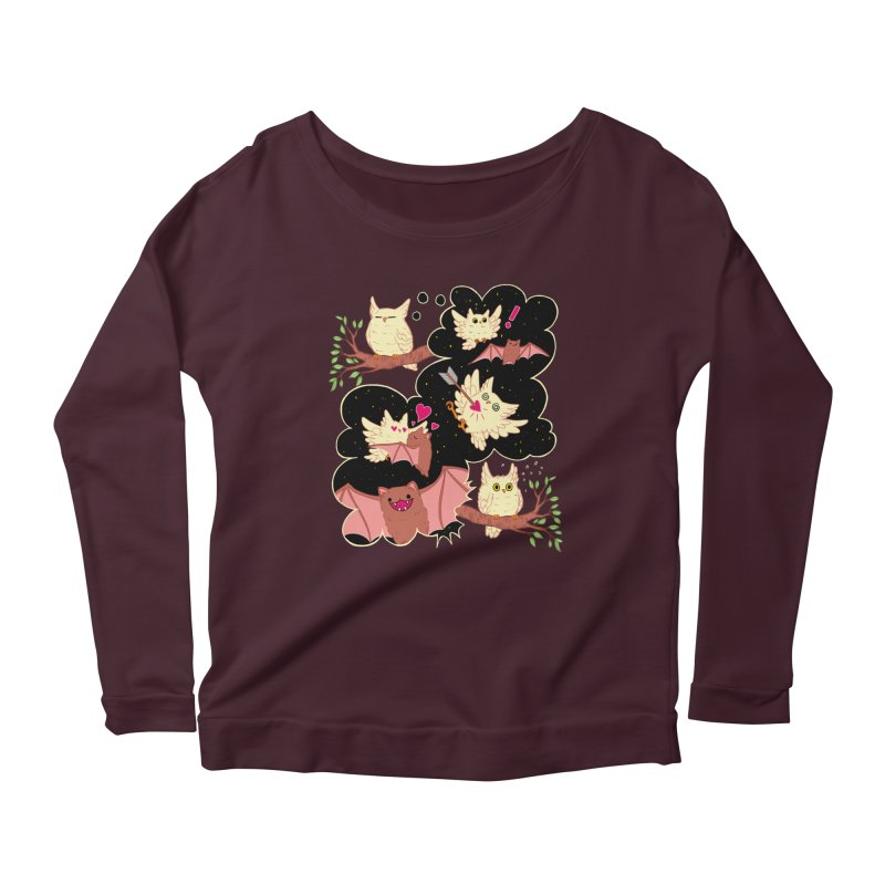 Sweet Dreams  Women's Scoop Neck Longsleeve T-Shirt by Art of Wendy Xu's Artist Shop