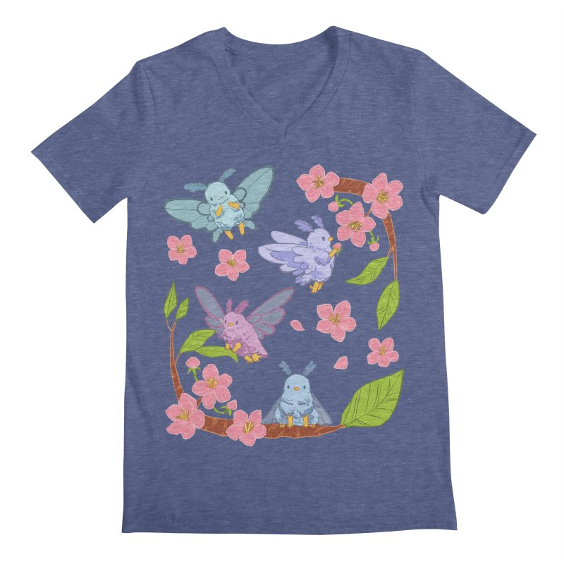 pollination Men's Regular V-Neck by Art of Wendy Xu's Artist Shop
