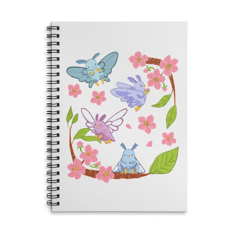 pollination Accessories Lined Spiral Notebook by Art of Wendy Xu's Artist Shop