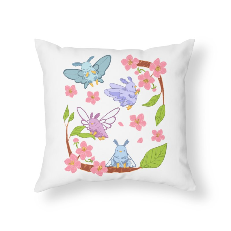 pollination Home Throw Pillow by Art of Wendy Xu's Artist Shop