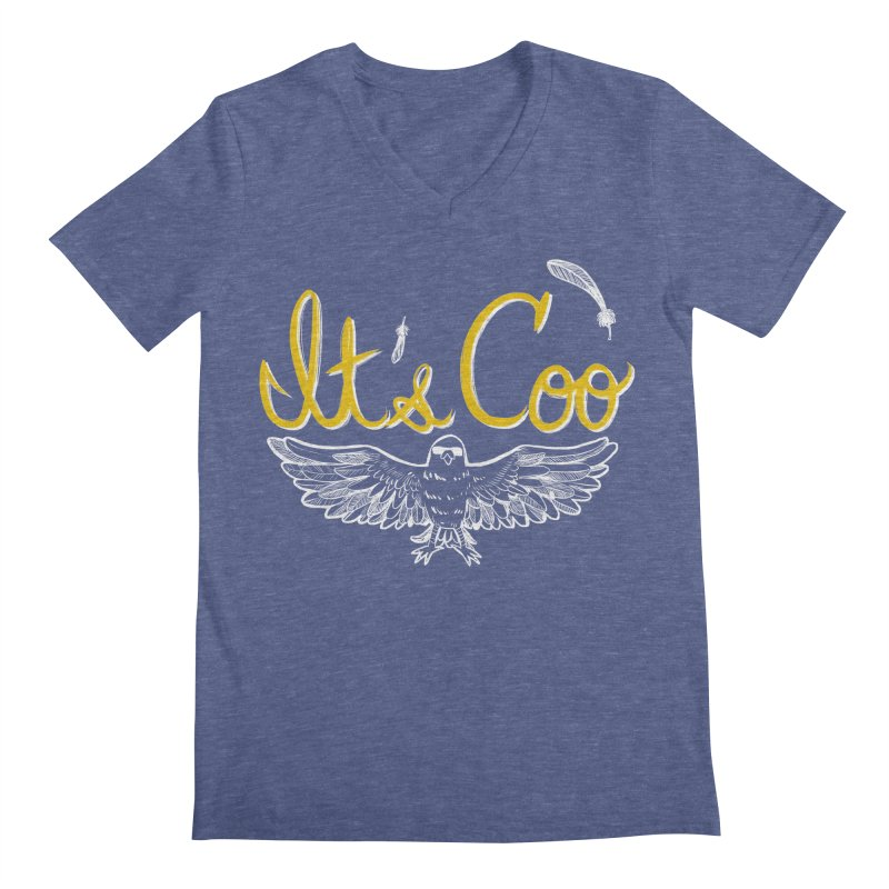 It's Coo Men's Regular V-Neck by Art of Wendy Xu's Artist Shop
