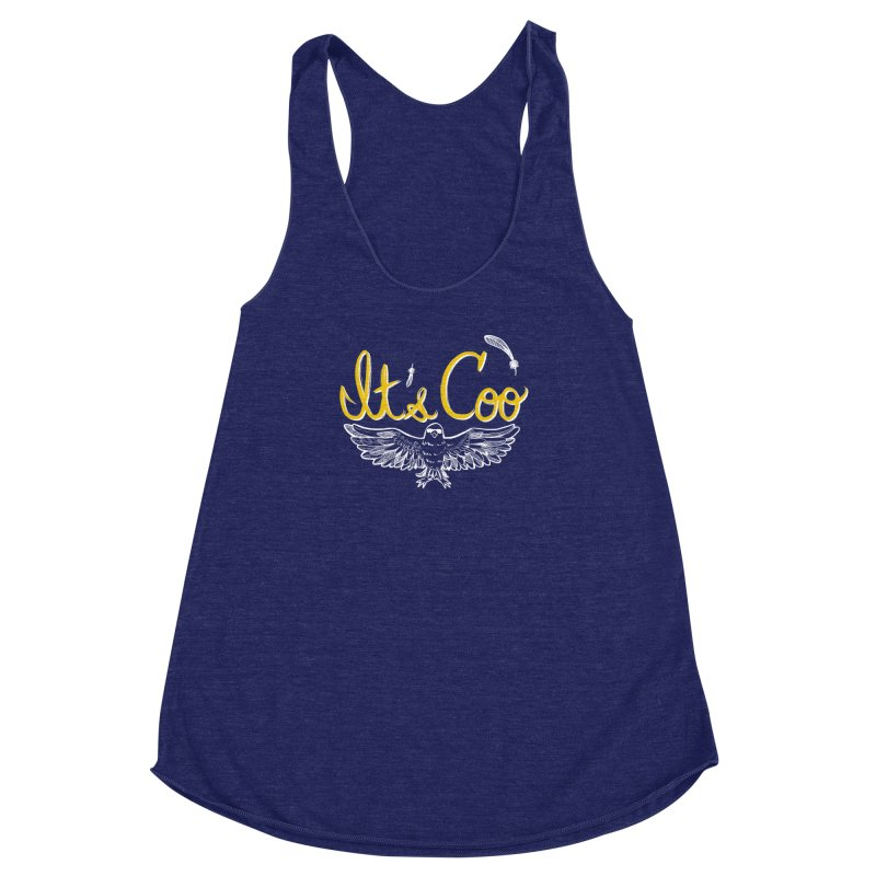 It's Coo Women's Racerback Triblend Tank by artofwendyxu's Artist Shop