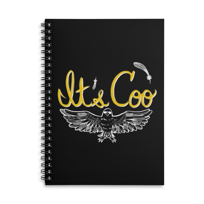 It's Coo Accessories Lined Spiral Notebook by Art of Wendy Xu's Artist Shop