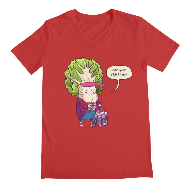 Cabbage Auntie Men's Regular V-Neck by Art of Wendy Xu's Artist Shop