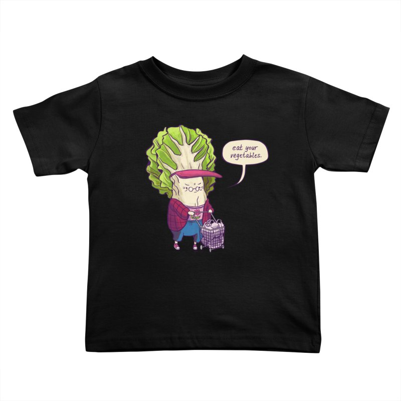 Cabbage Auntie Kids Toddler T-Shirt by Art of Wendy Xu's Artist Shop