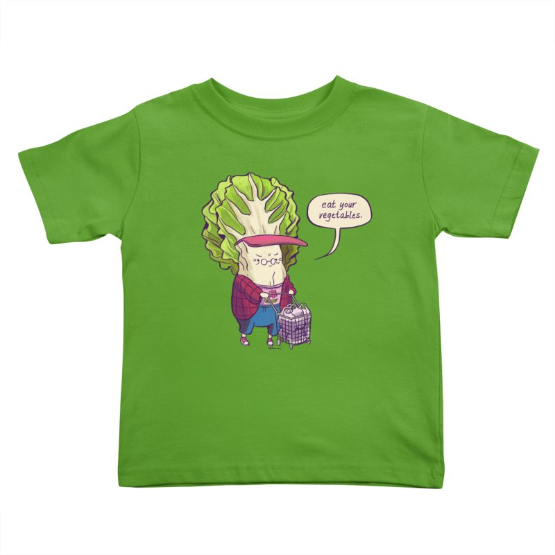 Cabbage Auntie Kids Toddler T-Shirt by Art of Wendy Xu's Artist Shop