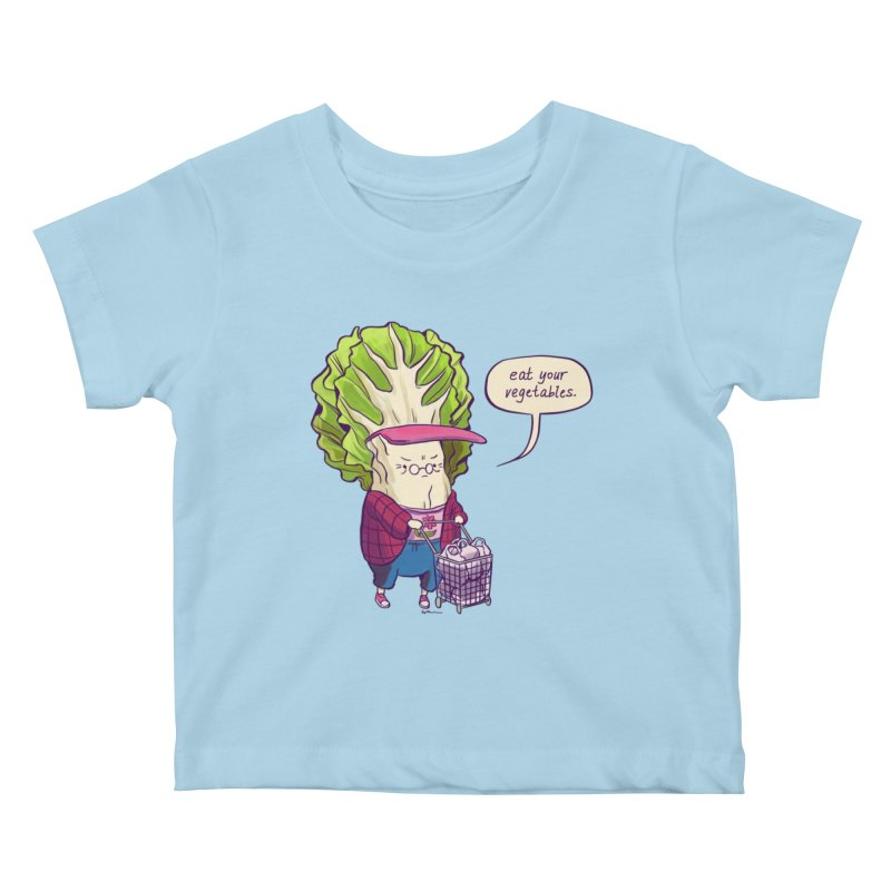 Cabbage Auntie Kids Baby T-Shirt by Art of Wendy Xu's Artist Shop