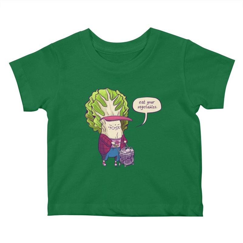 Cabbage Auntie Kids Baby T-Shirt by Art of Wendy Xu's Artist Shop