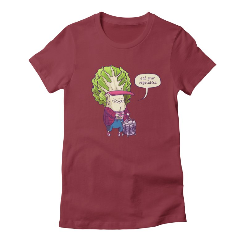 Cabbage Auntie Women's T-Shirt by Art of Wendy Xu's Artist Shop