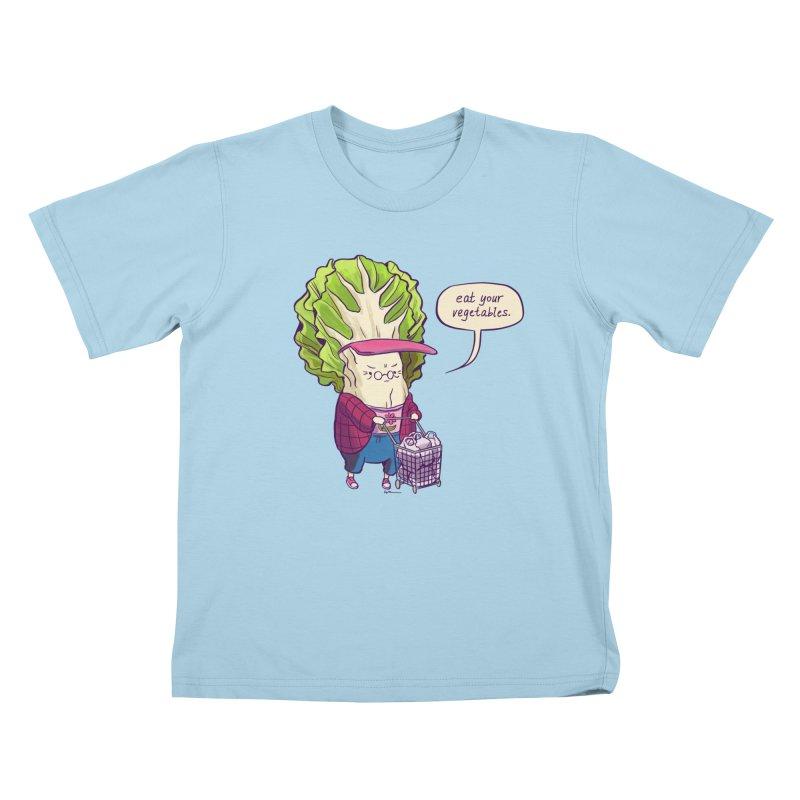 Cabbage Auntie Kids T-Shirt by Art of Wendy Xu's Artist Shop