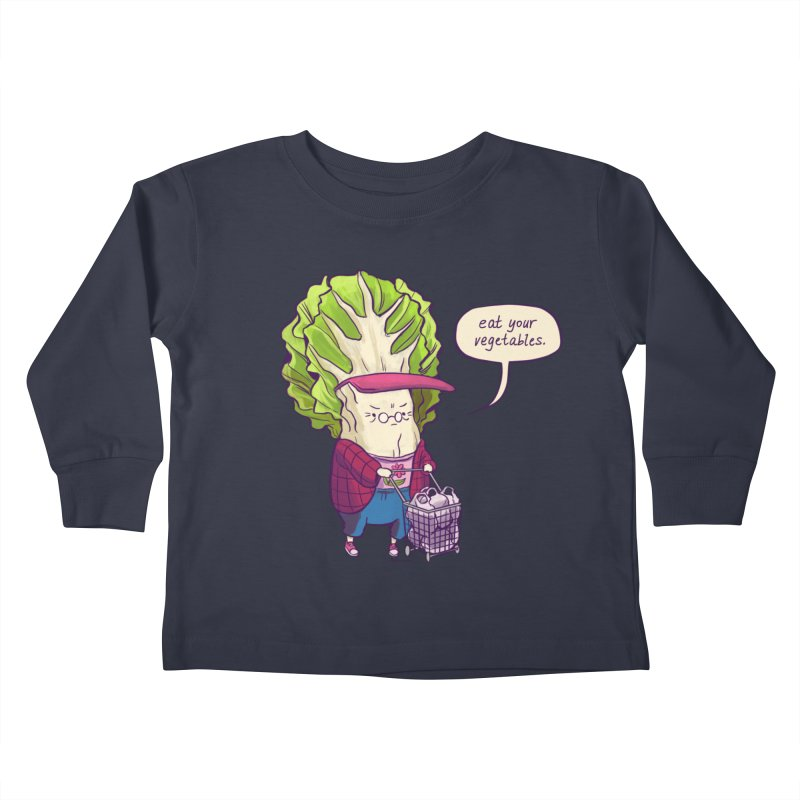 Cabbage Auntie Kids Toddler Longsleeve T-Shirt by Art of Wendy Xu's Artist Shop