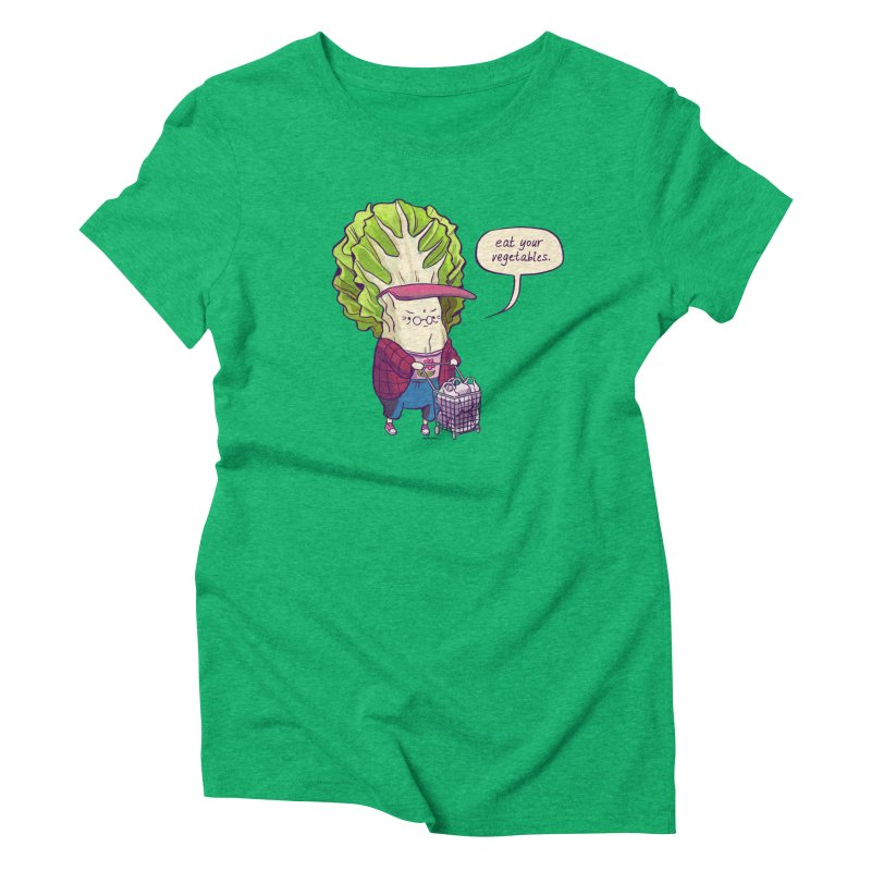 Cabbage Auntie Women's Triblend T-Shirt by artofwendyxu's Artist Shop