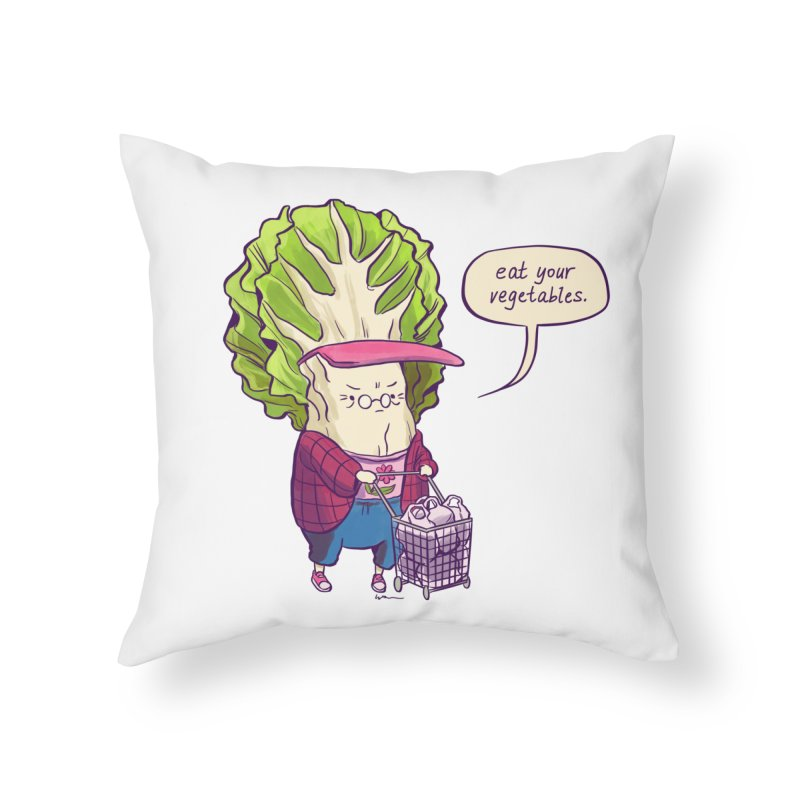 Cabbage Auntie Home Throw Pillow by Art of Wendy Xu's Artist Shop