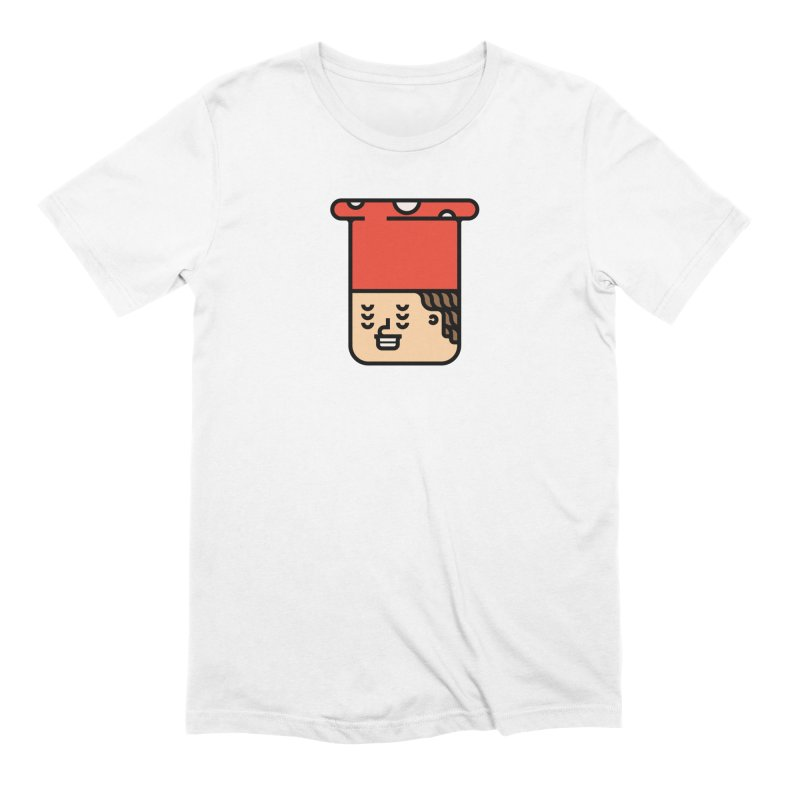 Mushroom Head in Men's Extra Soft T-Shirt White by Arto Jegas Store