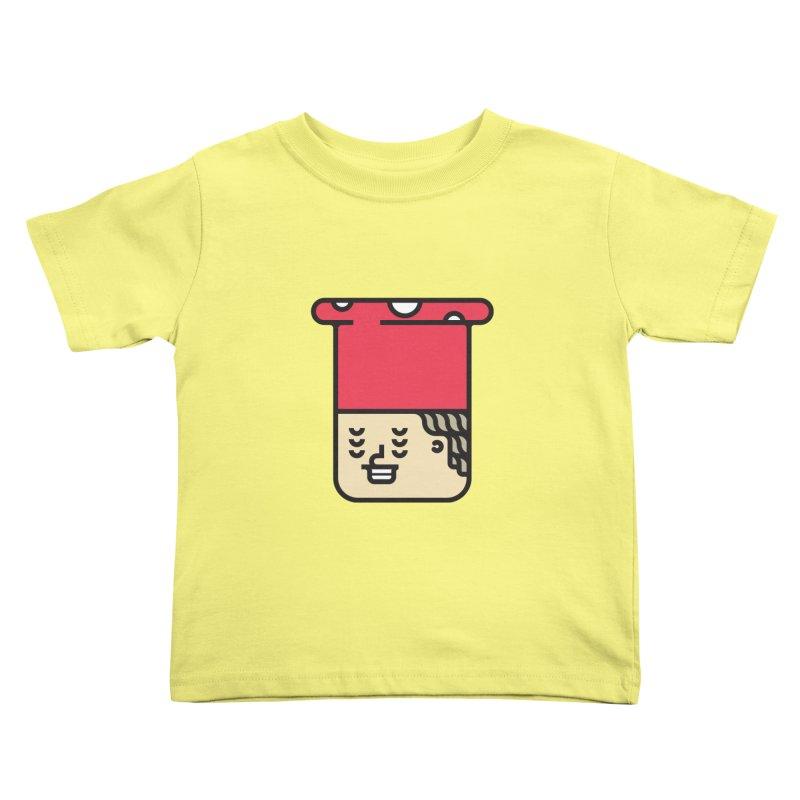 Mushroom Head Kids Toddler T-Shirt by artojegas's Artist Shop