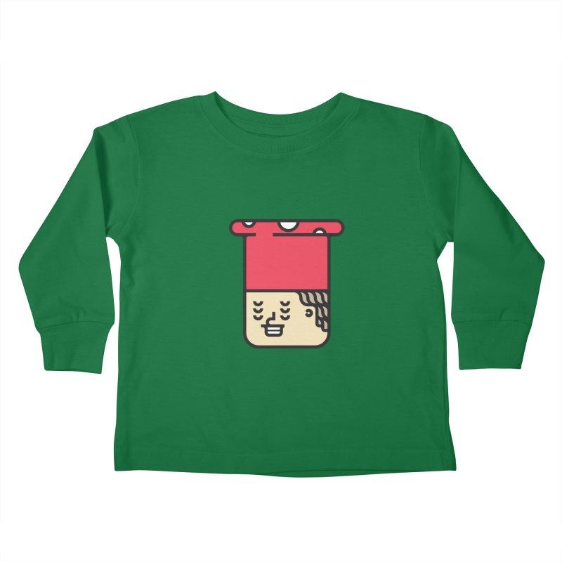 Mushroom Head Kids Toddler Longsleeve T-Shirt by artojegas's Artist Shop