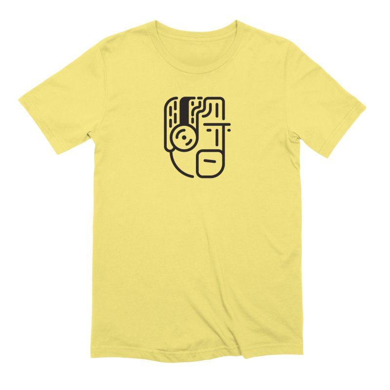 Music Head in Men's Extra Soft T-Shirt Light Yellow by Arto Jegas Store