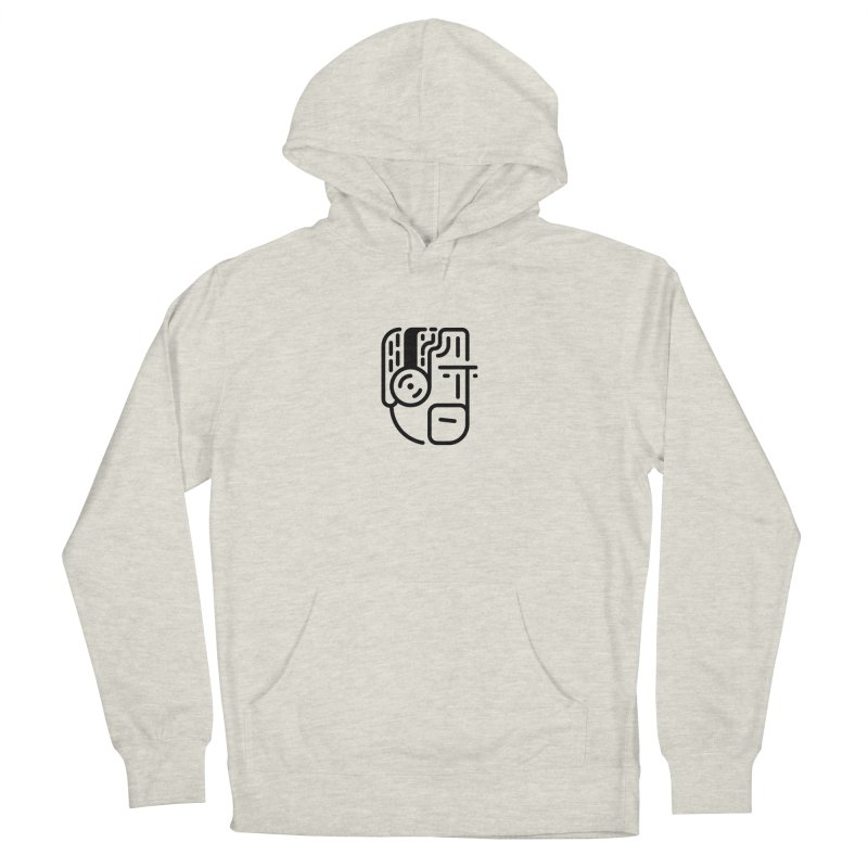 Music Head Men's French Terry Pullover Hoody by artojegas's Artist Shop
