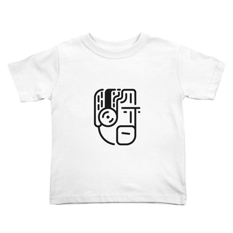Music Head Kids Toddler T-Shirt by artojegas's Artist Shop